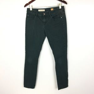 Pilcro And The Letterpress Jeans 28 Green Skinny